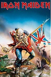 5824171e717949 Official T Shirt Iron Maiden Vintage Logo Trooper Burnout  Amazon.co ...