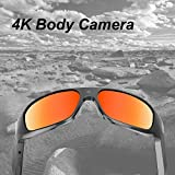 OHO 4K Ultra HD Waterproof Video Sunglasses, Sports Action Camera with Built-in 64GB Memory and Polarized UV400 Protection Safety Lenses,Unisex Sport Design