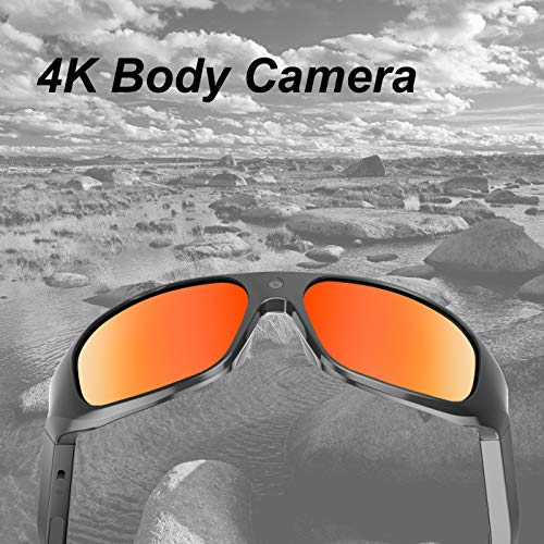 OHO 4K Ultra HD Waterproof Video Sunglasses, Sports Action Camera with Built-in 64GB Memory and Polarized UV400 Protection Safety Lenses,Unisex Sport ()