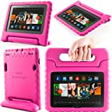 i-Blason ArmorBox Kido Series for Amazon Kindle Fire HDX 7 Inch Tablet Light Weight Super Protection Convertiable Stand Cover Case Kids Friendly (Pink)