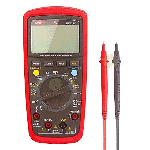 Uni-t Ut139C 5999 Count True RMS LCD Digital Auto Range Multimeter AD/DC Voltage Current Tester with Resistance Capacitance NCV Test and Temperature Measurement by UNI-T