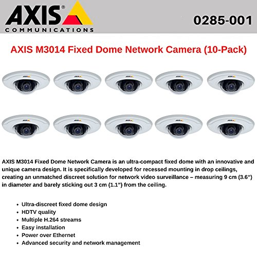 AXIS M3014 (10-Pack) Fixed Dome Network Camera HDTV quality, Power over Ethernet Axis M3014 Fixed Dome