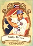 2009 Topps Allen & Ginter National Pride Baseball Card #NP63 Carlos Beltran New York Mets