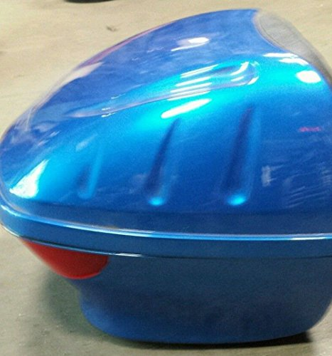 BLUE Hard Scooter Motorcycle Luggage Trunk Locking Case Storage Tail Box (Galaxy Glow Mini Golf)