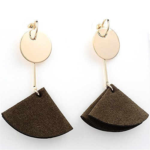 Women Fashion Triangle Leather Earring Birthday Gift Bohemian Style by Mrsrui
