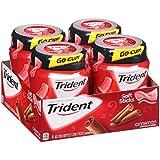 Trident Unwrapped Cinnamon Sugar Free Gum - 50 Piece Bottles (Pack of 4)