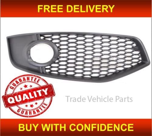 Trade Vehicle Parts AD1440 Driver Side Front Bumper Fog Grille With Lamp Hole Compatible With A3 S3 2006-2008