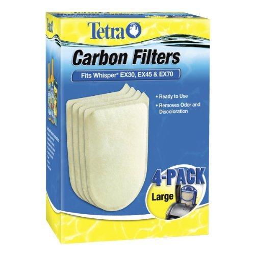 Tetra Carbon Filters Large 4 PK Fits Whisper EX30 EX45 EX70 Cartridge LG Filter