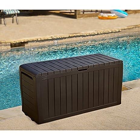 Keter Marvel 71 Gal. Plus All Weather Indoor/ Outdoor Brown Storage Deck Box