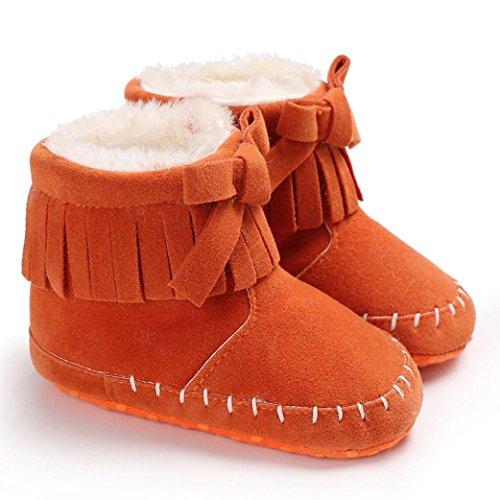 OverDose Baby Mädchen Weiche Sohle Beuten Schneestiefel Kleinkind Neugeborene Warmschuhe Krippe Schuhe A-Orange