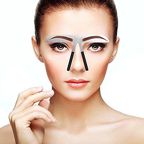Plantilla DIY profesional de ceja forma la plantilla defina herramienta del maquillaje de la regla(#1)