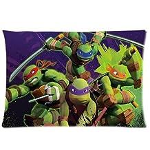 "Hey-Boss TMNT Teenage Mutant Ninja Turtles Custom queen pillowcases Zippered pillow cases 20"" X 30"" (Twin sides)"