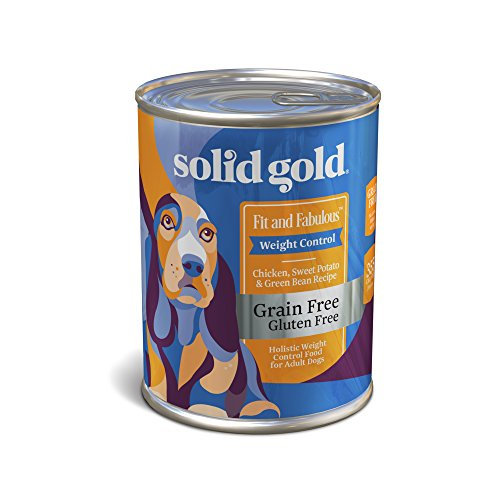 Solid Gold Weight Control Wet Dog Food; Fit & Fabulous Grain-Free with Real Chicken & Sweet Potato, 12ct/13.2oz (Control Formula Canned Food)