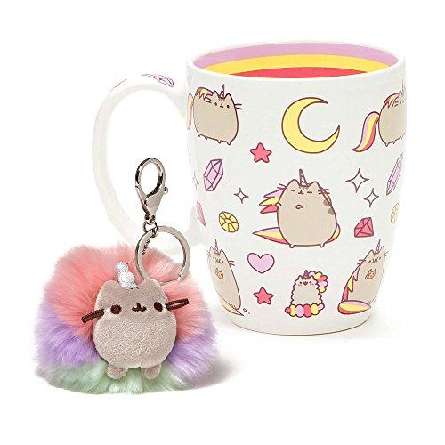 Magical Pusheen Mug and Pusheenicorn Poof Key Chain Set