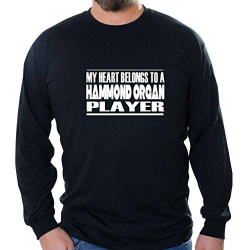 Custom Brother - My Heart Belongs to A Hammond Organ Player Unisex Long Sleeve Shirt Black (Best Hammond Organ Players)