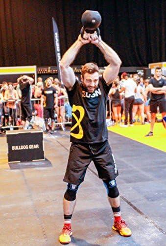 WODs compression et am/élioration des performances pour Squats Genouill/ères Powerlifting small Crossfit Weightlifting Crossfit 7 mm Knee Sleeves Excellent soutien paire chaleur