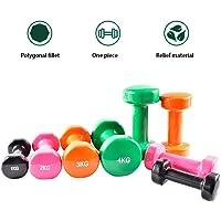 Essentials Neoprene Dumbbell Weights Home Gym Fitness Dumbbell Set 1kg 2kg 3kg 4kg 5kg (pair) (Color : Green, Size : 1kg)