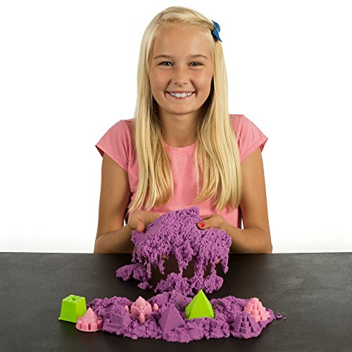 51DIobXGWeL - NATIONAL GEOGRAPHIC Play Sand - 2 LBS of Sand with Castle Molds and Tray (Purple) - A Kinetic Sensory Activity