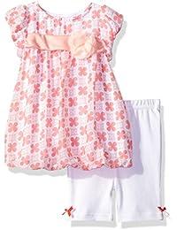 Baby Girls' 2 Piece Chiffon Bubble Dress Set With Capri Pants