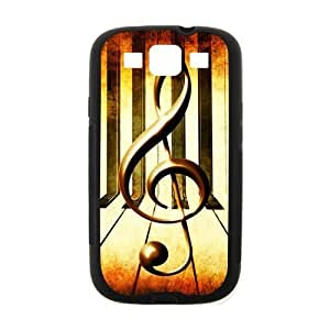 Samsung Galaxy S3 I9300 Case,Vintage Music Note Music Symbol Piano Keys Hign Definition Retro Design Cover With Hign Quality Rubber Plastic Protection Case