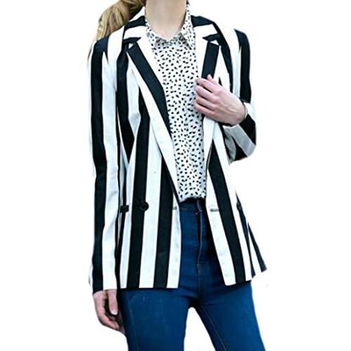 Ebind Womens Casual Slim Striped Lapel Autumn Blazers supplier