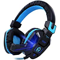 Access Vomach Over-ear Headphone Wired Stereo Gaming Headset with Microphone for PC Cool LED Light 3.5mm Jack Black dispense