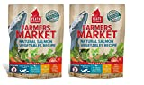 PLATO Dog Treats -Farmers Market Salmon and Vegetables- 14 oz (2 Pack) For Sale