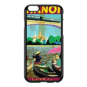 Hanoi Black Hard Plastic Case for iPhone 6 Plus by Nick Greenaway + FREE Crystal Clear Screen Protector