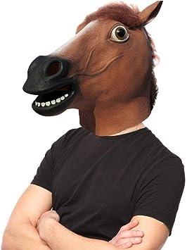 Amazon.com: Máscara de cabeza de Látex de lujo para disfraz ...