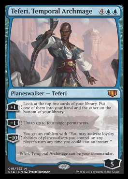 Magic: the Gathering - Teferi, Temporal Archmage (019/337) - Commander 2014 by Magic: the Gathering