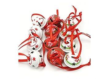 Christbaumkugeln Metall.Livoto Weihnachtsbaumkugeln Christbaumkugeln Weihnachtskugeln Baumbehang Aus Metall Jingle Bells Mit Niedlichem Dekor