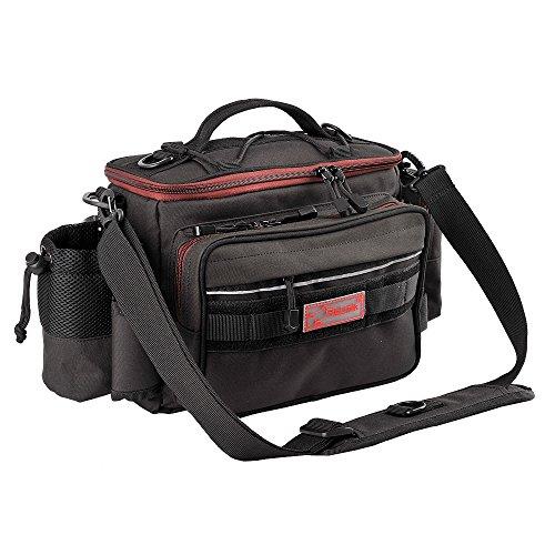 Fiblink Waterproof Outdoor Multifunctional Fishing Tackle Bag Shoulder Bag and Handbag or Waist Bag Fishing Gear Storage for Fishing Hiking Climbing (Black) (Fishing Bag)