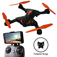 F111 Phoenix Foldable Wi-Fi FPV Drone with Camera Live Video Capability – Force1 Folding Drones with Cameras Series Includes HD 720p Drone Camera, 1-Key Control & 360° Flips
