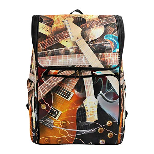 Book Only Guitar Basic Instruction (Magic Electric Guitar Music Backpack Waterproof Polyester Campus Backpack Lightweight Travel Daypack Large Capacity)