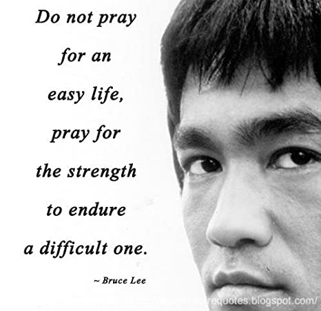 Amazoncom Purchase Punch Do Not Pray For An Easy Lifebruce Lees