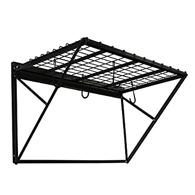 Proslat 60001 ProRack Heavy Duty Wall Mount Metal Storage Shelf with 4' Section, Charcoal Granite