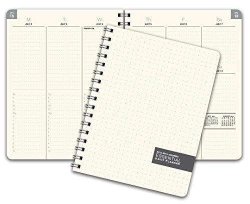 Essential 7x9 Monthly & Weekly 2018-2019 Academic Year Planner - July 2018 Through July 2019 - Professional, Simple, Easy-to-Use Design. Frosted Vinyl Covers for Extra Protection.