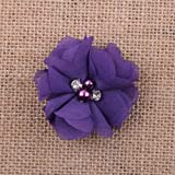 FidgetFidget Chiffon sew Flowers Big Appliques/Craft/Wedding Decoration 12#