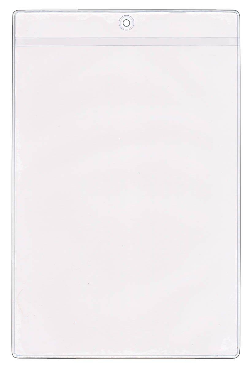 StoreSMART - 6 x 9 Job Ticket Holders 25-Pack - Vinyl Plastic - Open Short Side - HPE109S-25