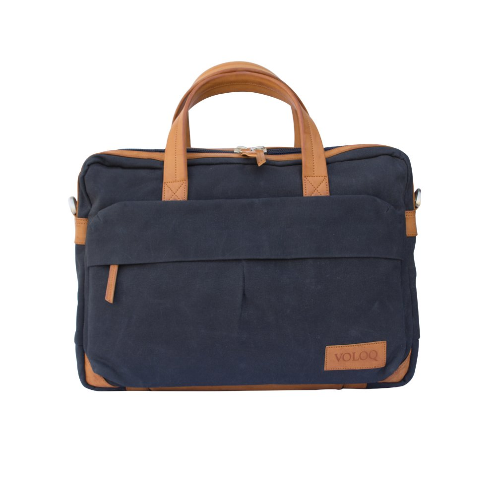 be7d68d1a4 Siach Classic Best Selling Laptop Shoulder Messenger Bag for Men   Women  sleeve for upto 15.6   17 inch Handcrafted Waxed Canvas   Vegan Leather