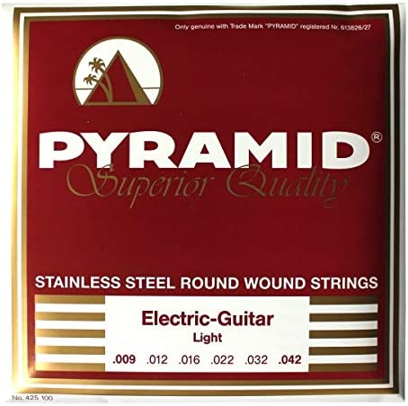 Pyramid Stainless Steel Light 9 – 42 cuerdas para guitarra ...