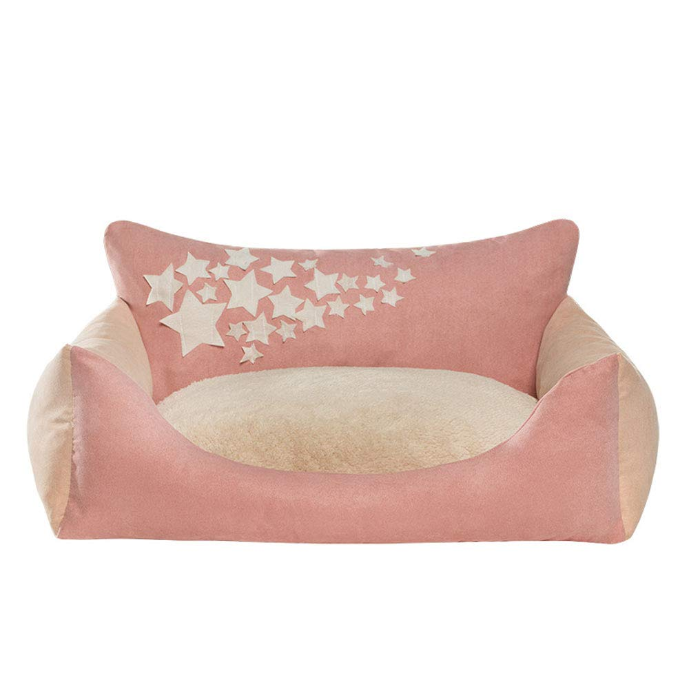 Luminous pink S Luminous pink S obzk Pet Bed Sofa Washable Cat Litter Kennel Four Seasons Universal Luminous Cat Bed Comfortable And Durable For Cats And Dogs,Luminous pink,S