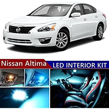 Nissan altima 2007 2015 led premium ice blue light interior package kit 14 pcs 2015 nissan altima interior lights