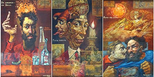 Triptych ''Russian love'' ''Russian authority'' ''Russian philosophy''