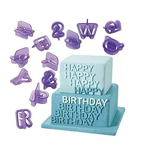 - Heyuni.40pcs Alphabet Number Character Letter Fondant Cake Decorating Set Icing Cutter Mold