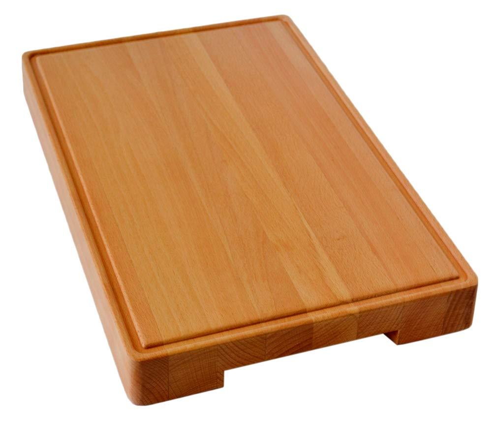まな板 まな板 まな板 木製のブナ材 18×12インチ ハードウッド 極厚 前菜 サービング用皿 耐久性と耐性 B07FSG99BL