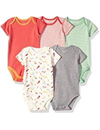 Baby Set of 5 Organic Short-Sleeve Bodysuits