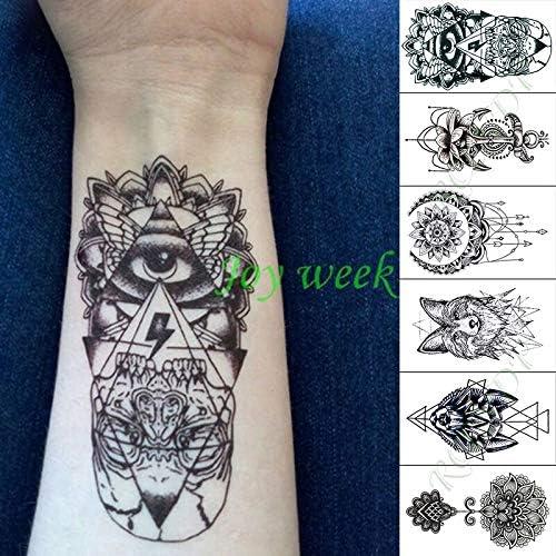 Etiqueta engomada del Tatuaje Temporal Impermeable cráneo ...