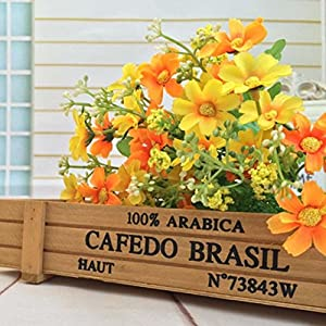 Inverlee 1 Bunch Artificial Flowers Fake Flowers Wedding Bridal Bouquet DIY Home Garden Decor 9