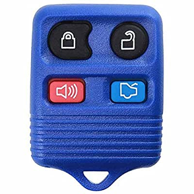 KeylessOption Blue Replacement 4 Button Keyless Entry Remote Control Key Fob Clicker: Automotive